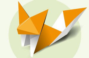 Une feuille ? Cinq minutes ? Un renard en origami !