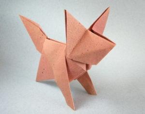 Une Feuille Cinq Minutes Un Renard En Origami Mimosa