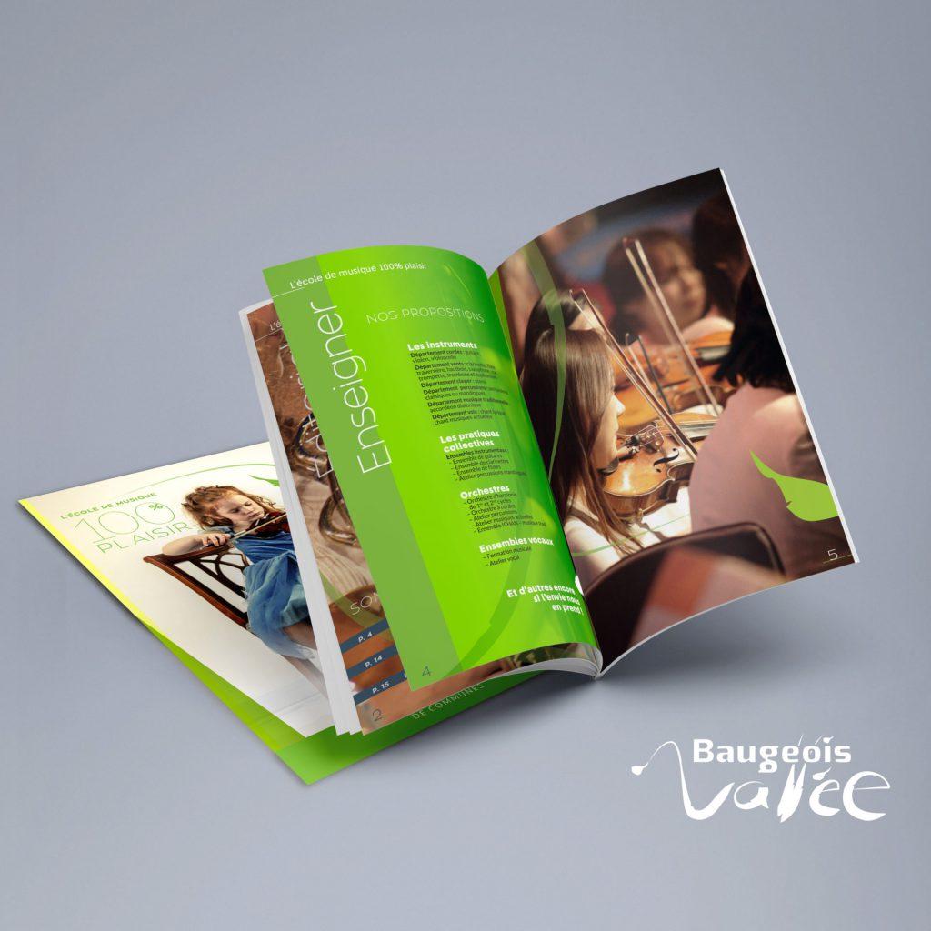 Plaquette de l'école de musique Brugeois-Vallée