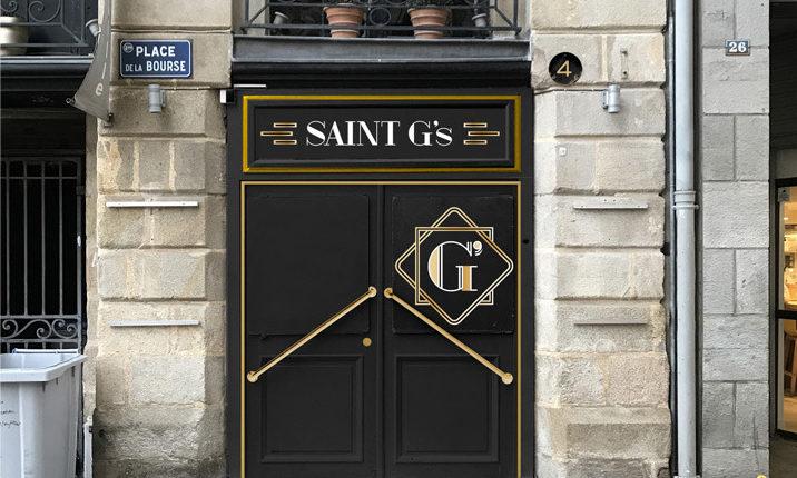 Le Saint G's bar, l'entrée de jour